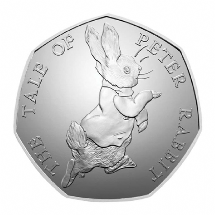 Royal Mint 2017 Peter Rabbit Fifty Pence